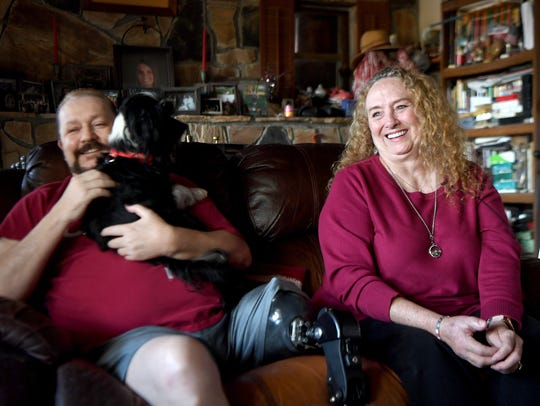 Audrey Gaddis, with her husband, Steve, talks about