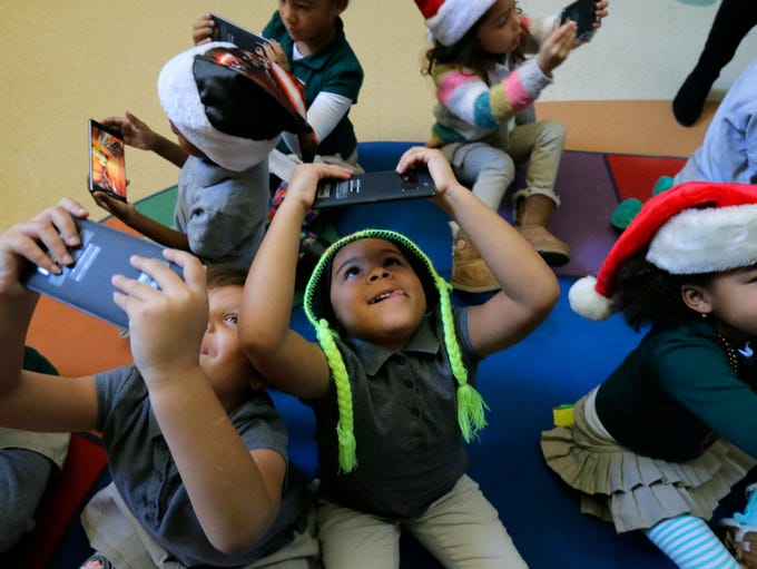 Ayionna Walker, 5, took a Google expedition to the