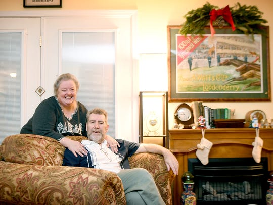 Susan and Paul Purdue decorate their home, named Tyrconnell,