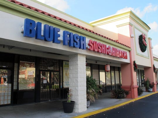 Blue Fish Sushi & HIbachi closed in September 2017 after being damaged by Hurricane Irma.