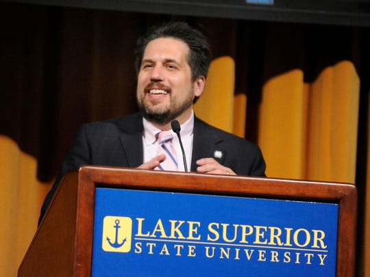 Thomas Pleger, president of Lake Superior State University.