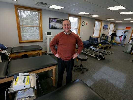 Dr. David Bertone tours his db Orthopedic Physical Therapy location in Lincroft, NJ Wednesday January 3, 2018.