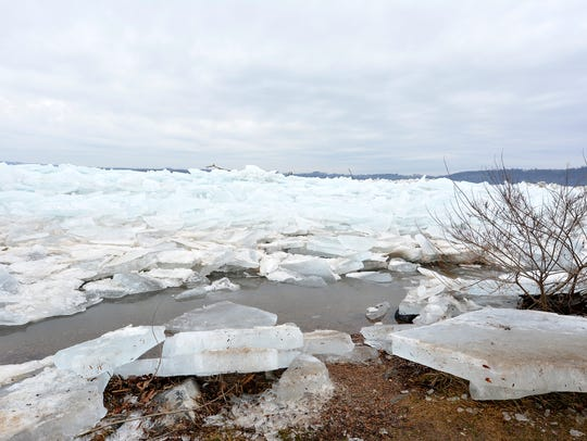 River ice on the Susquehanna River is bringing visitors