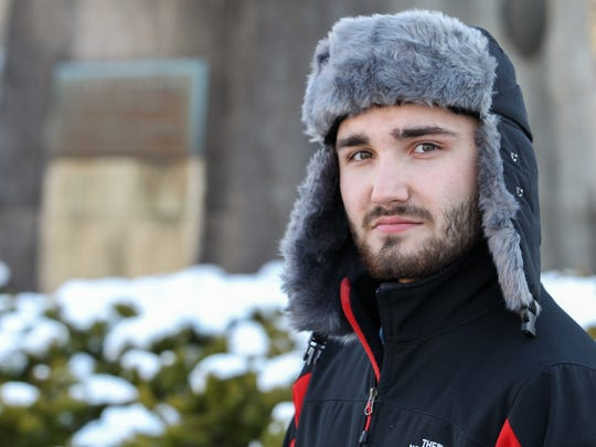 Brett Glass is a 22-year-old  Mount St. Joseph College student who is months away from graduating with a teaching degree. Glass wants to teach high school history. He voted for Hillary Clinton. President Donald Trump's anti-science stance concerns him most. He said the only thing he agrees with is Trump's goal to send people to the moon and Mars.