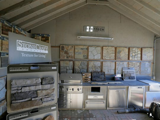 Outdoor appliances on display at Ryser's Landscape