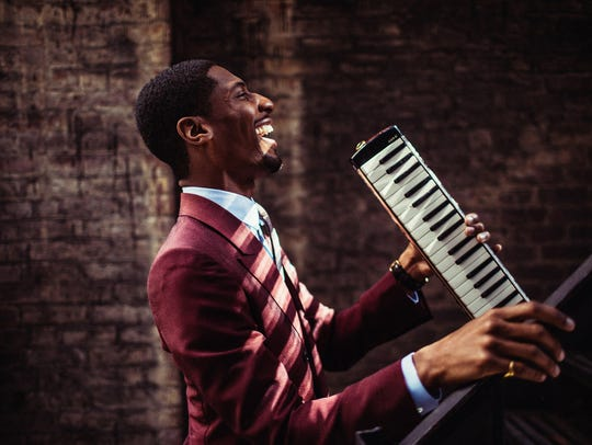 "Jon Batiste, music director for ""The Late Show"" with"