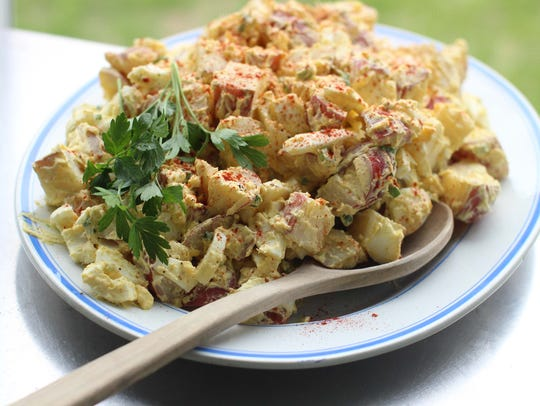 Creamy deviled egg potato salad