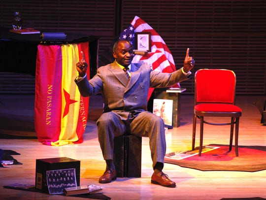 """Actor Tayo Aluko in """"Call Mr. Robeson."""""""