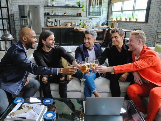 Karamo Brown, Jonathan Van Ness, Tan France, Antoni Porowski and Bobby Berk on 'Queer Eye.'