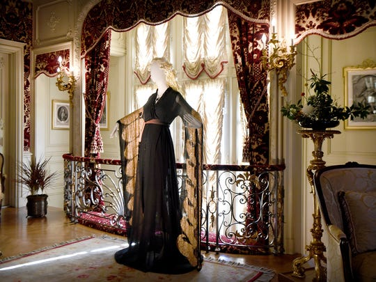 The dress worn by Kate Winslet as Rose DeWitt Bukater