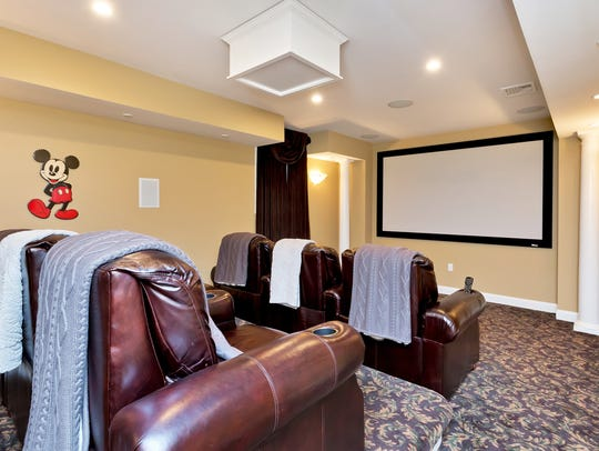 This home also features your very own custom theatre.