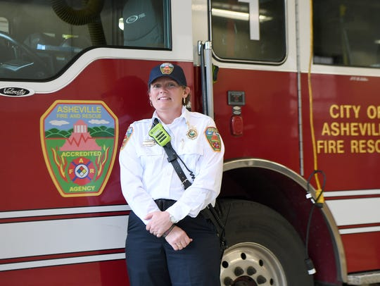 Asheville Fire Department Division Chief Joy Ponder
