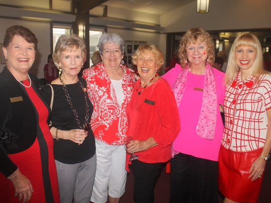 Pam Molander, Brenda Clapp, Barb Markel, Jackie Hays, Cindy Crane and Virginia Vacio are happy to see each other.
