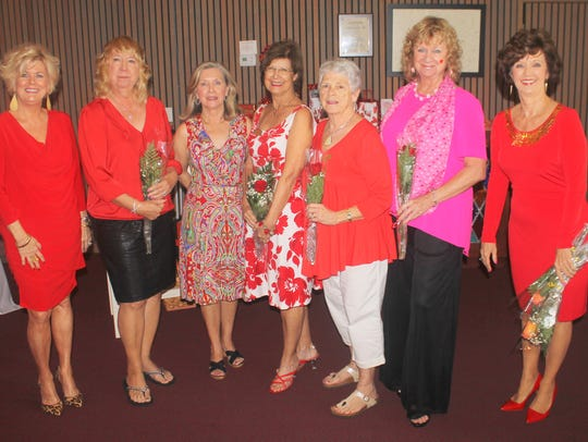 February birthday ladies and membership co-chair are