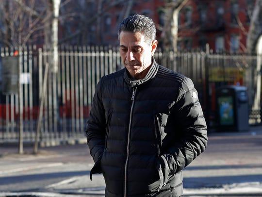 "Joseph ""Skinny Joey"" Merlino enters federal court in"