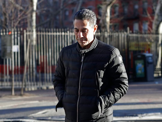 "Joseph ""Skinny Joey"" Merlino enters federal court in New York."
