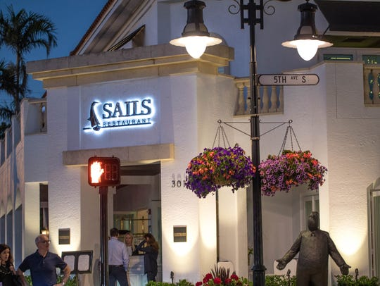 The new Sails Restaurant is on the northeast corner