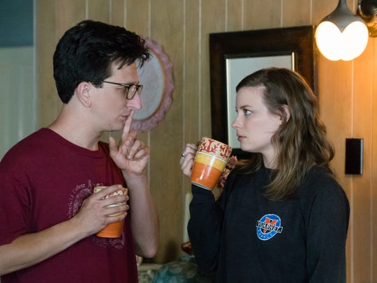 The relationship between Gus (Paul Rust, left) and Mickey (Gillian Jacobs) is inspired in part by Rust and series co-writer Lesley Arfin, his wife.