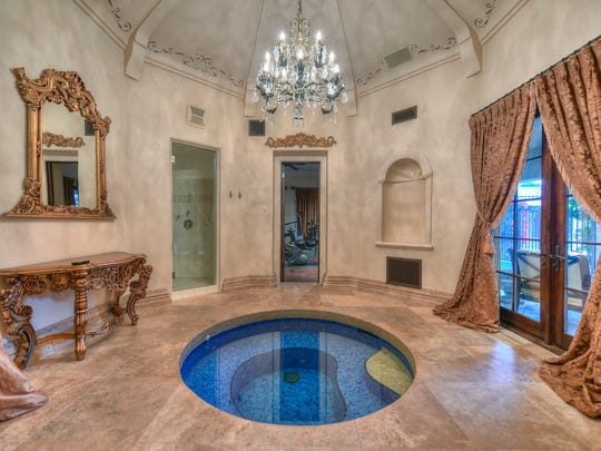 The master suite is its own private getaway, with a