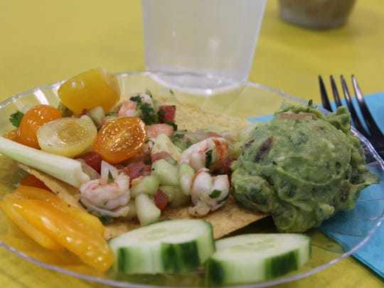 Part of the luncheon served at the talk: shrimp ceviche.