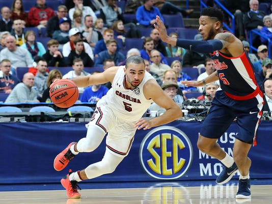 NCAA Basketball: SEC Conference Tournament-South Carolina vs Mississippi
