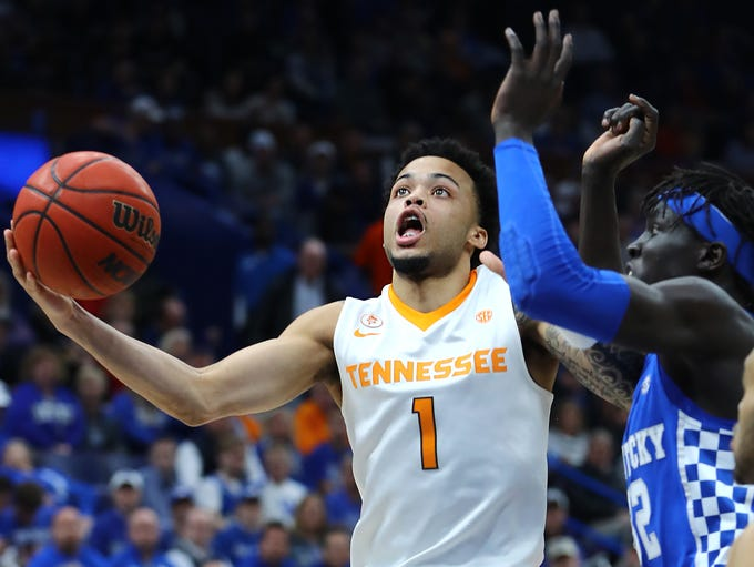 Mar 11, 2018; St. Louis, MO, USA; Tennessee Volunteers