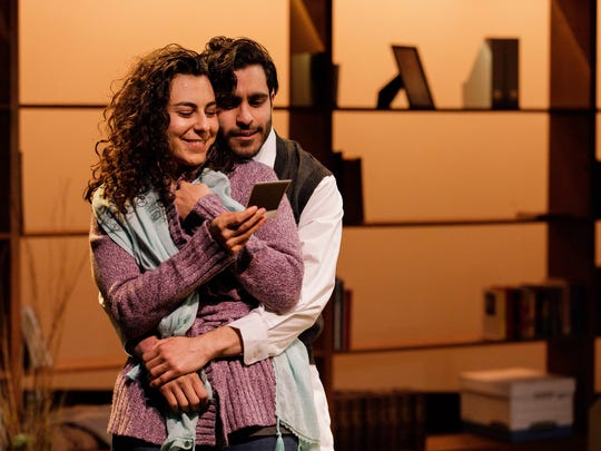 Mari Vial-Golden and Owais Ahmed in Heartland at Geva.