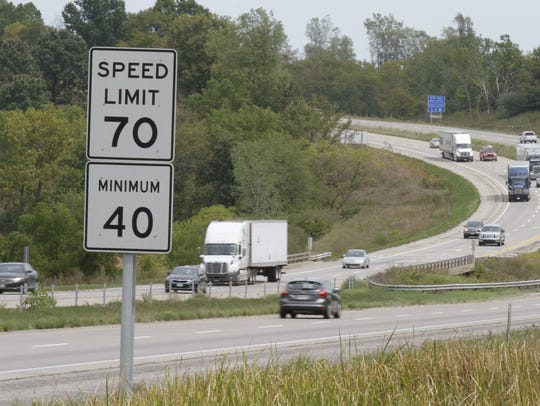 Special to the Register Motorists travel eastbound on I-80 near West Des Moines.