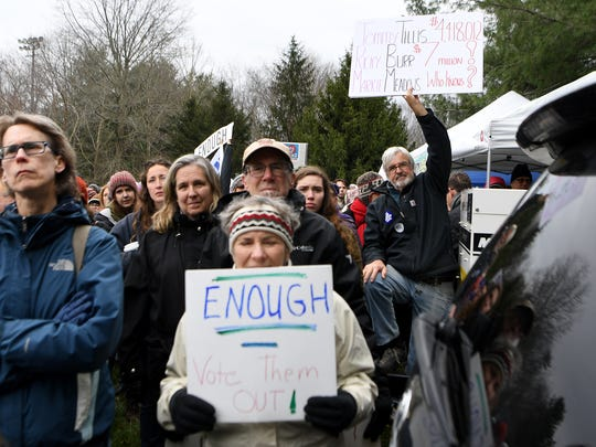 Thousands participated in the Asheville March For Our Lives from the Vance Monument downtown to the Martin Luther King, Jr. Park on Saturday, March 24, 2018. The march was organized primarily by high school students as a response to the school shooting at Stoneman Douglas High School in Parkland, Florida and coincided with a national march in Washington D.C.