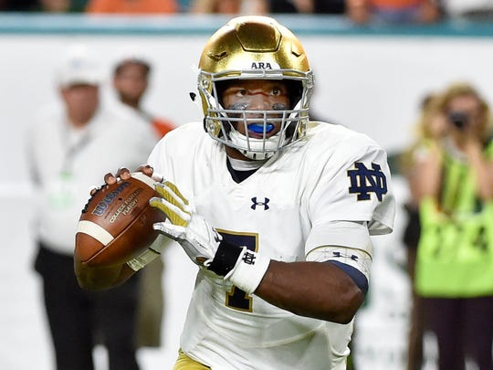 Brandon Wimbush was benched during the Irish's come-from-behind win in the Citrus Bowl.