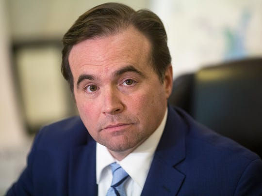 Cincinnati Mayor John Cranley holds a press conference