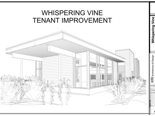 A rendering of the new Whispering Vine Wine Co. planned