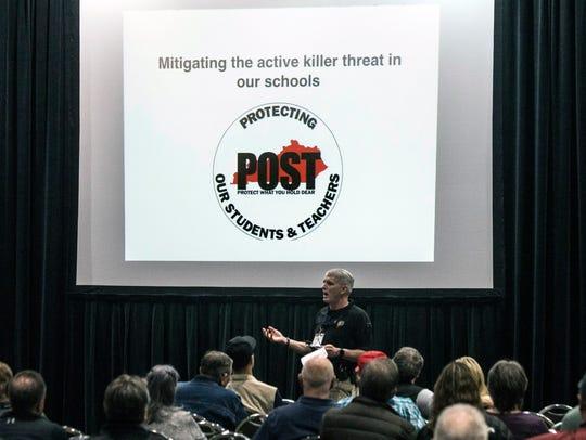 "A seminar called ""mitigating the active shooter threat"""