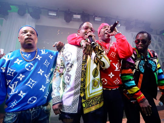 (L to R) Spliff Star, Mase, Busta Rhymes and Diddy