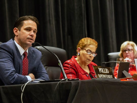 Marty Pollio delivered his superintendent's report