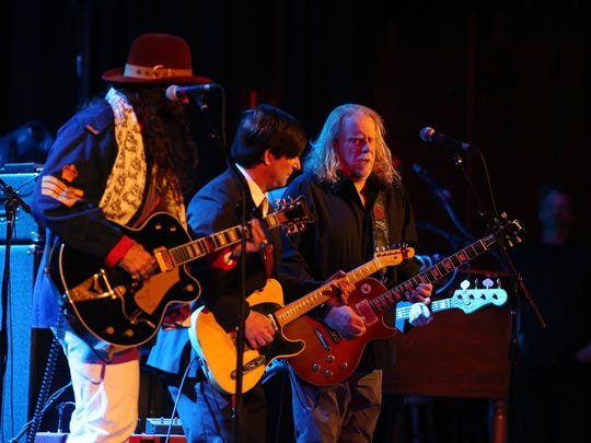 (right) Warren Haynes of Gov't Mule sits in with Tangiers Blues Band during the Asbury Park Music + Film Festival at Paramount Theatre in Asbury Park, NJ Sunday April 29, 2018.   #APMFF
