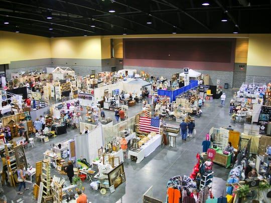 "Branson Market Days returns to Branson Convention Center May 11-12, 2018. This overview photo was taken at the ""eclectic vendor show"" in May 2017."