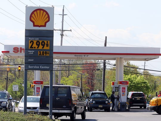 Jersey Shore motorists are seeing gas prices near $3 a gallon for the first time since 2014 at this Shell station in Tinton Falls, NJ Monday May 7, 2018.