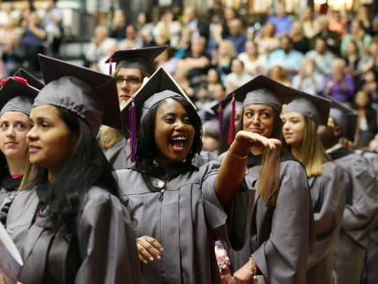 Brookdale Community College graduation ceremony inside Robert J. Collins Arena at Brookdale Community College in Lincroft, NJ Thursday May 10, 2018.