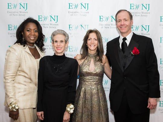 EWNJ President Michellene Davis, Esq., Salute Chair Barbara E. Kauffman, NJ First Lady Tammy Murphy and Salute Honorary Chair Laurence M. Downes