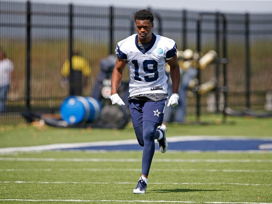 Malik Earl of the Dallas Cowboys during rookie minicamp