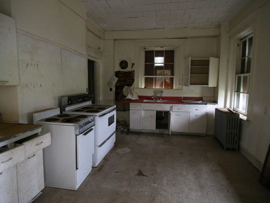 The kitchen of one of the historic homes along Officers' Row at Fort Hancock.