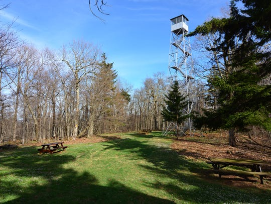 There is a picnic area at the site of the tower.