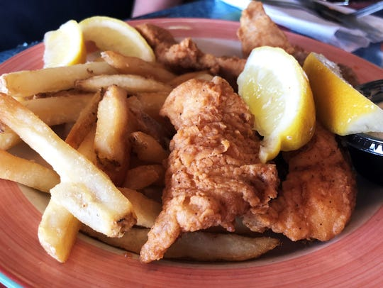 The Snook's grouper fingers and fries. Who knew grouper