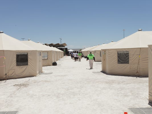 Tornillo, Texas tent shelters