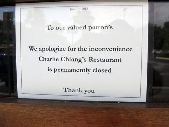 Charlie Chiang's restaurant permanently closed last