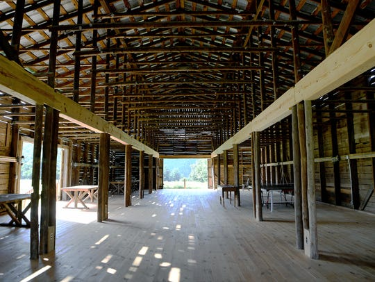 An old tobacco barn has been turned into an event space
