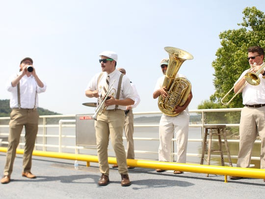 The Cincy River Rats perform on the newly christened
