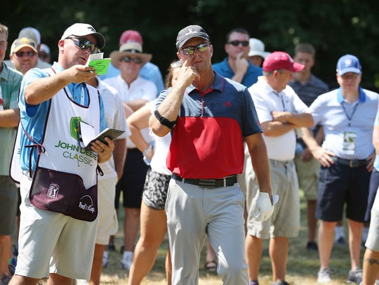Sean McCarty anticipates having brother Chad (left) as his caddie for the PGA Championship this week in St. Louis.