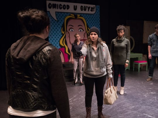 "Students perform in ""Student Body"" at the University of Wisconsin-Stevens Point in fall 2017."